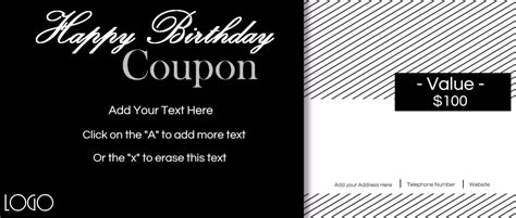 custom birthday coupons customize  print