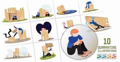 Quarantine Illustrations Pack