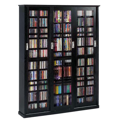 leslie dame multimedia storage cabinet black ms