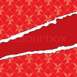 Hin Und Mit : hin und hergerissen weihnachten dekorpapier mit loch element f r design vektor illustration ~ Eleganceandgraceweddings.com Haus und Dekorationen