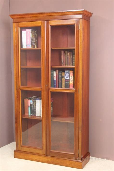 Moulded Cornice Mahogany Bookcase With A Moulded Cornice