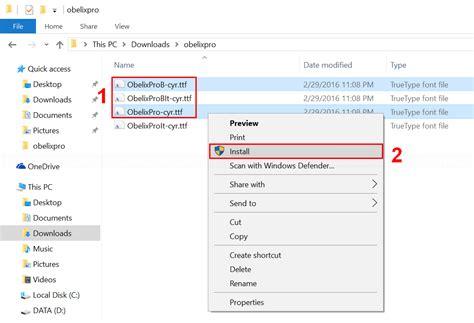 install install install font on windows 10 linglom com