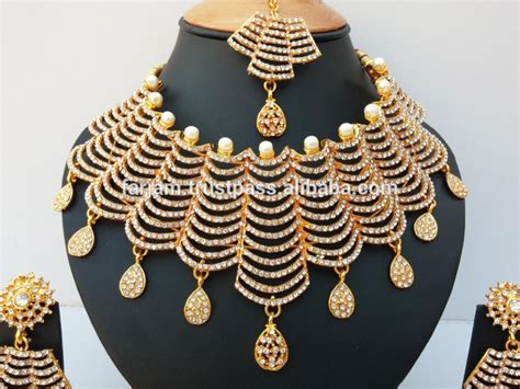 Indian Latest Bollywood Wholesale Royal Inspired Kundan Beaded Stone Bridal Jewellery/jewelry Wooden Jewelry Trees Art Deco Vs Nouveau Charm Molds Copper Display Los Angeles Ireland Necklaces Costume Ebay