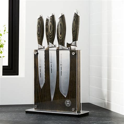 Schmidt Brothers ® Bonded Ash 7 Piece Knife Set   Crate