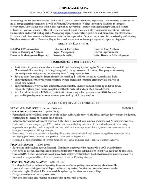 resume for an accountant cpa resume out of darkness