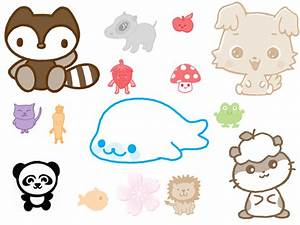 Cartoon Cute Animals With Big Eyes To Draw How - Litle Pups