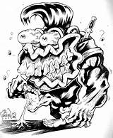Monster Weird Rat Fink Coloring Adult Drawings Drawing Cartoon Character Rats Whimsical Creative sketch template