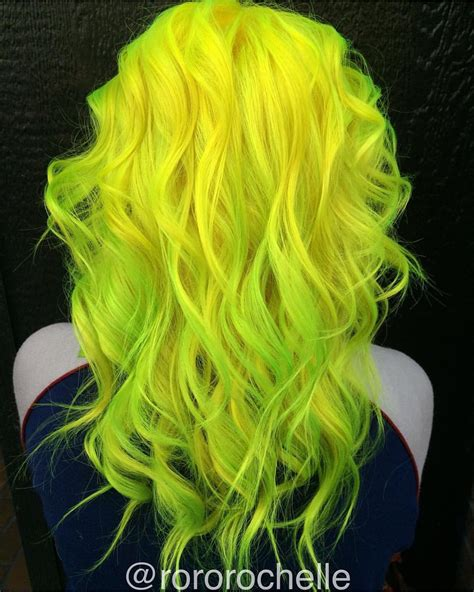 Black And Yellow Hair Color by Neon Yellow Hair And Neon Green Hair Color By Rochelle