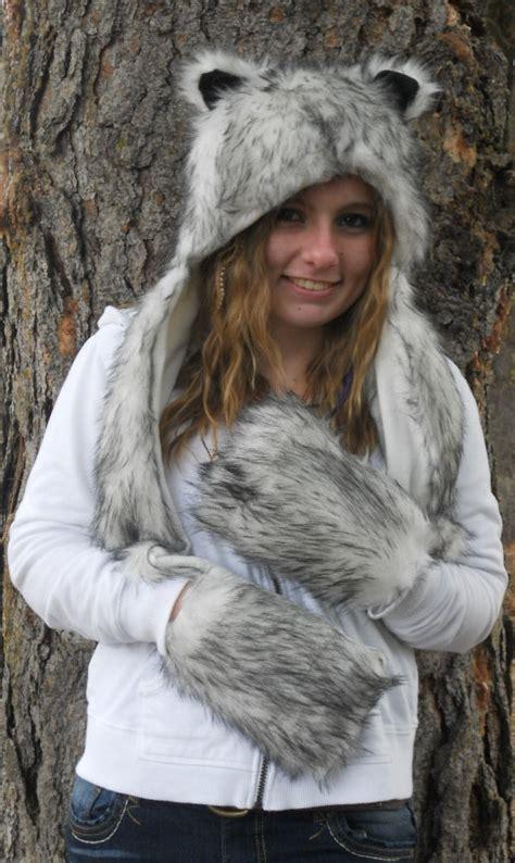 wolf hat hats grey