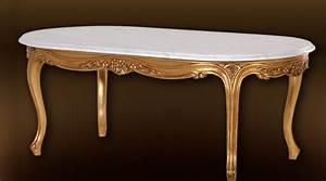 Table Basse Marbre But : table basse style louis xv vieil or et plateau marbre blanc ~ Teatrodelosmanantiales.com Idées de Décoration
