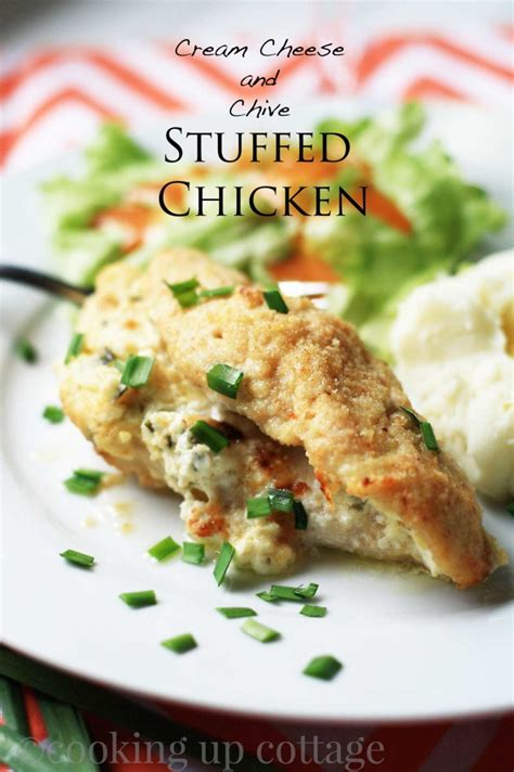 cuisine cottage cheese and chive stuffed chicken cooking up cottage