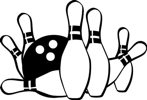 free bowling clipart bowling pins 183 free vector graphic on pixabay