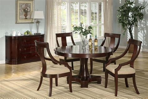 Cherry Dining Room Chairs Round Cherry Dining Table