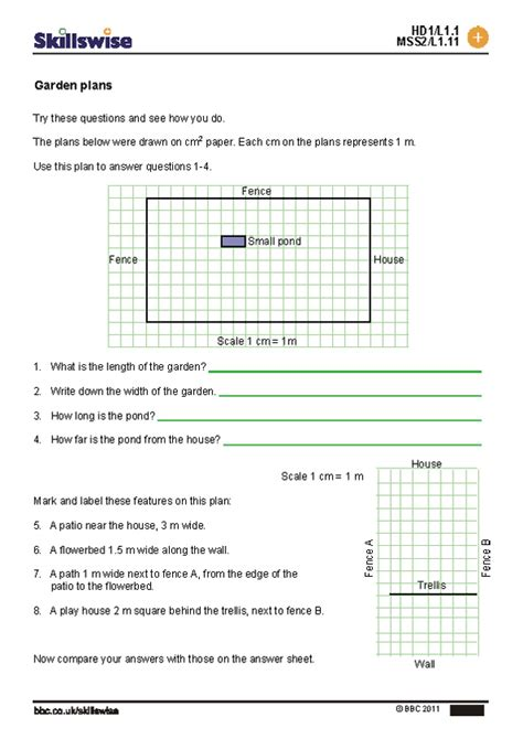 scale drawing worksheet 7th grade worksheets for all