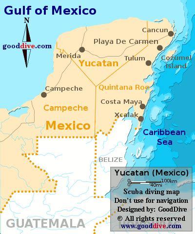 yucatan map gooddivecom