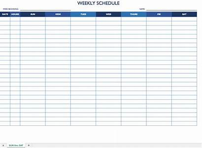 Schedule Weekly Template Employee Monthly Templates Excel