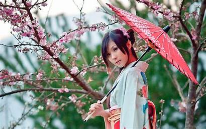 Kimono Japanese Geisha Umbrella Japan Holding Wallpapers