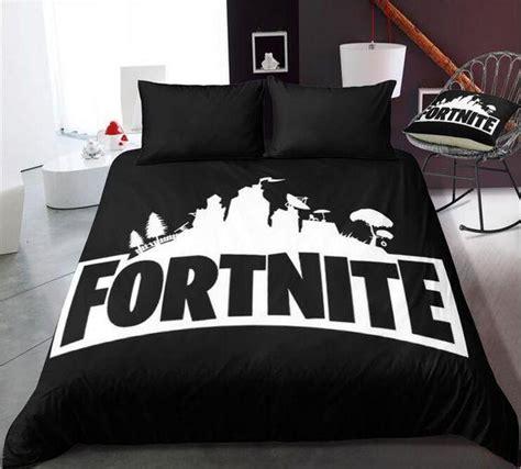 fortnite gamers black duvet cover pillowcase set bedtique