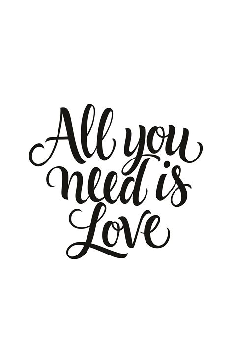 Wall Mural All You Need Is Love  Photo Wallpaper Happywall
