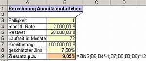 Zinsen Pro Jahr Berechnen : bersicht ms excel funktionen zins ~ Themetempest.com Abrechnung
