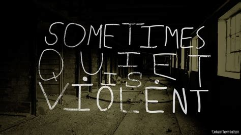 Sometimes, Quiet Is Violent. -twenty One Pilots, Car Radio