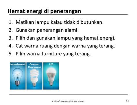 hemat energi  anak anak