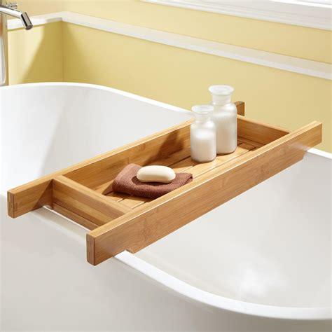 teak shower 33 quot hancock bamboo tub caddy bathroom