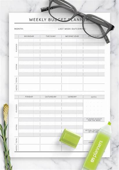 Budget Weekly Printable Planner Pdf Template Templates