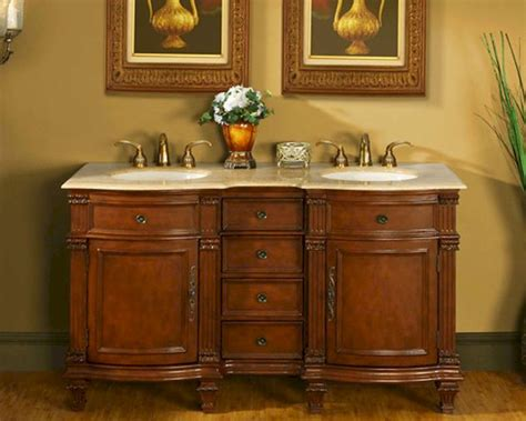 travertine sinks sale silkroad 60 quot double sink cabinet travertine top ceramic sinks