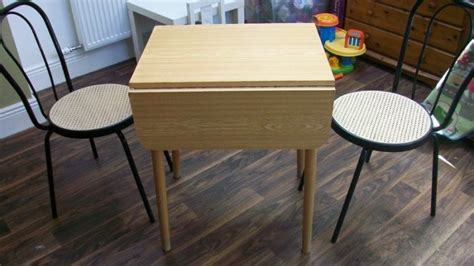 small drop leaf dining table and 2 chairs for sale in
