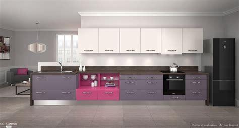 cuisine harmonie cuisine harmonie mélaminé coloris violet arthur