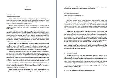 contoh format makalah  contoh makalah analisis swot