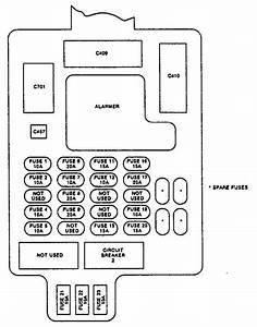 Isuzu Stylus  1991 - 1993  - Fuse Box Diagram