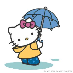 animated  kitty  kitty gif umberella rain