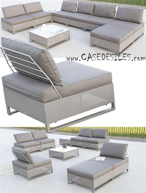 canapé de jardin aluminium canape de jardin aluminium au meilleur prix sur casedesîles