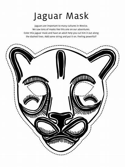 Mask Coloring Jaguar Pages Masks African Totem