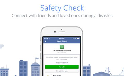 safety check allows you to connect with family during disasters
