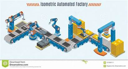 Production Line Automated Belt Concept Isometric Assembly