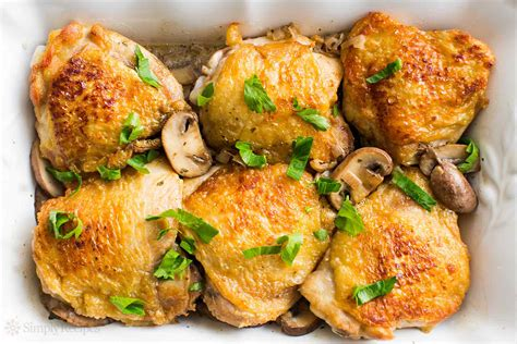 chicken thighs with mushrooms and shallots recipe