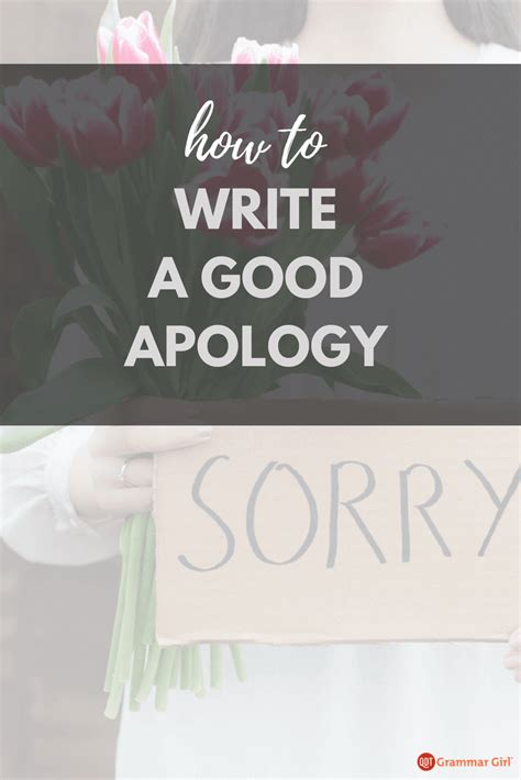 write  apology  avoid  apologies