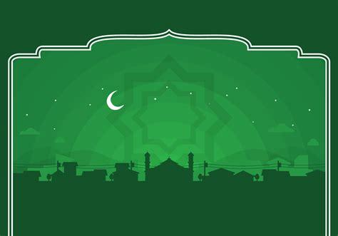 background islami hijau cdr hd gratis