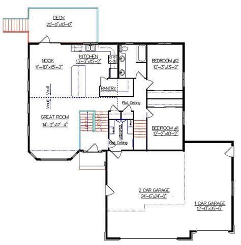 bi level house floor plans bi level house plan with a bonus room 2010542 by e designs split ebtry pinterest house