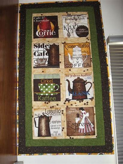 Quilt Wall Coffee Quilted Hangings Hanging Quilts