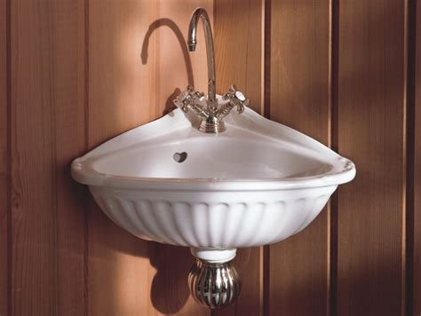 small corner bathroom sinks herbeau vintage style carline corner sink traditional