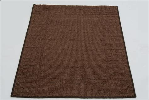 Utility Rug by Non Slip Washable Utility Mats Rugs Black Brown Wine 80 X