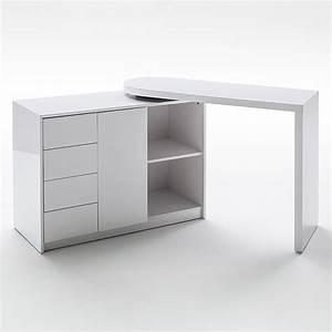 Tischplatte Weiß Hochglanz : schreibtisch und regal mit drehfunktion hochglanz real ~ Frokenaadalensverden.com Haus und Dekorationen