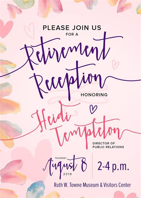 retirement reception heidi templeton vol july