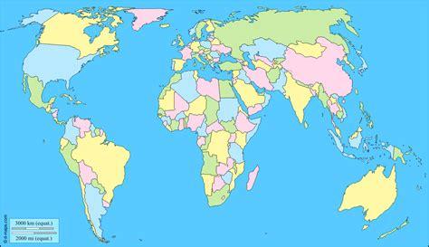 Carte Muette Monde à Imprimer by Carte Du Monde Vierge En Couleur 187 Carte Du Monde
