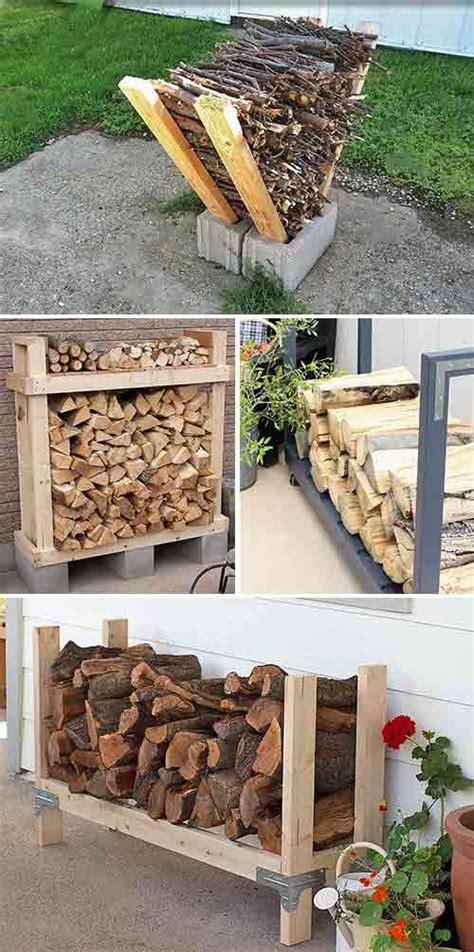 super easy diy outdoor firewood racks iseeidoimake