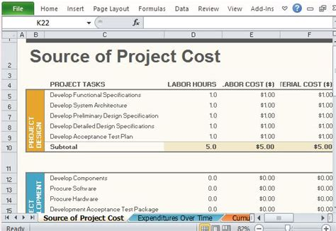 how to create a project budget best project management templates for excel
